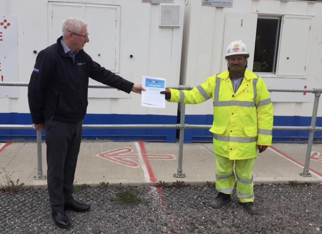 Mr Balbir Singh Virk, won a Health Safety and Well-being Award on Balfour Beatty VINCI M4 Smart Motorway Project