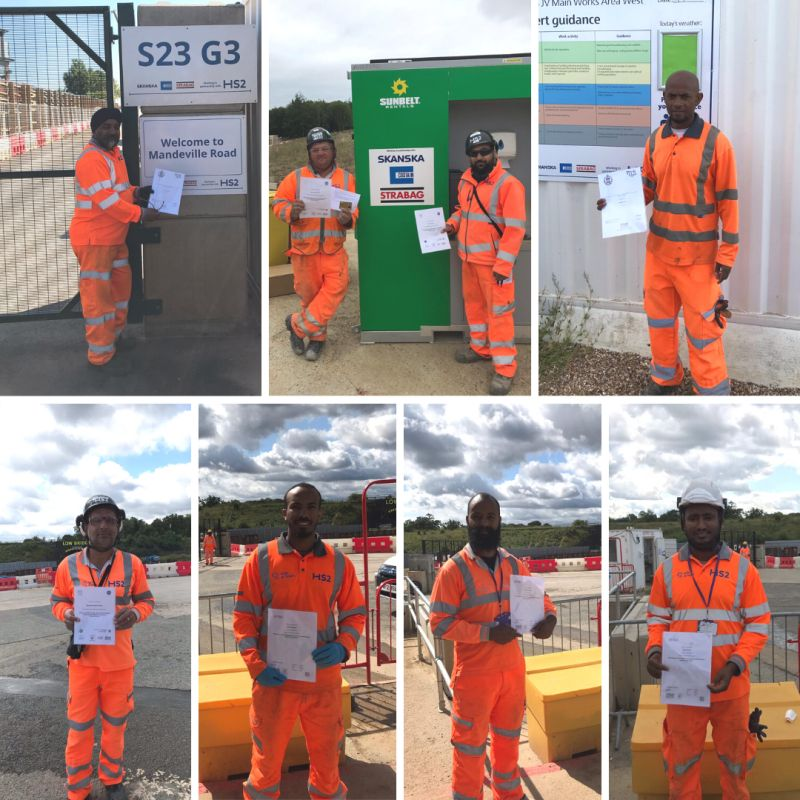 Long term DSG employees working on HS2 West Section complete their NVQs.